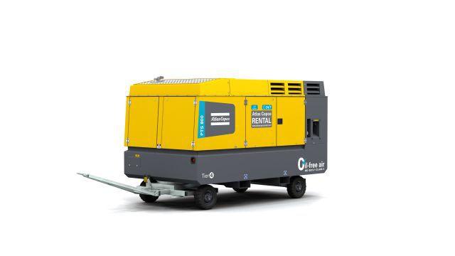 ATLAS COPCO - Location - Compresseur thermique PTS 800 T4F - 100% exempt d'huile