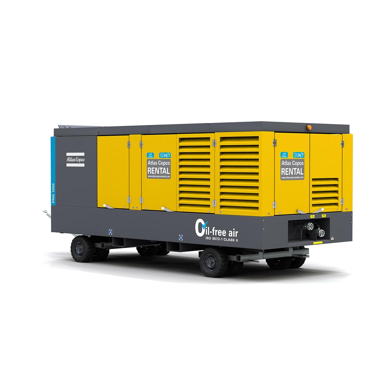 ATLAS COPCO - Location - Compresseur thermique PNS 1250 T4F  - 100% exempt d'huile