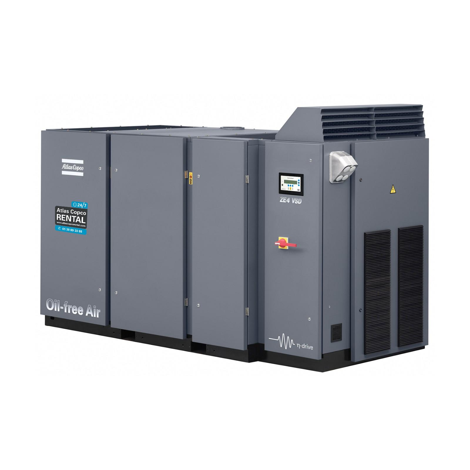 ATLAS COPCO - Location - Compresseurs électriques à vis ZE 4 VSD - 100 % exempt d'huile