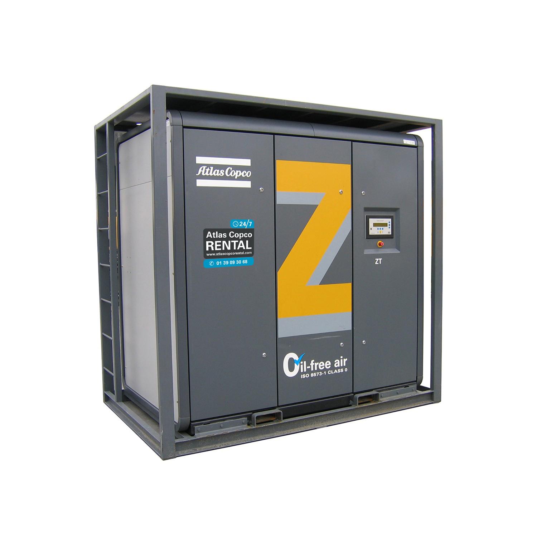 ATLAS COPCO - Location - Compresseurs électriques à vis - ZT <90 kW - 100 % exempt d'huile