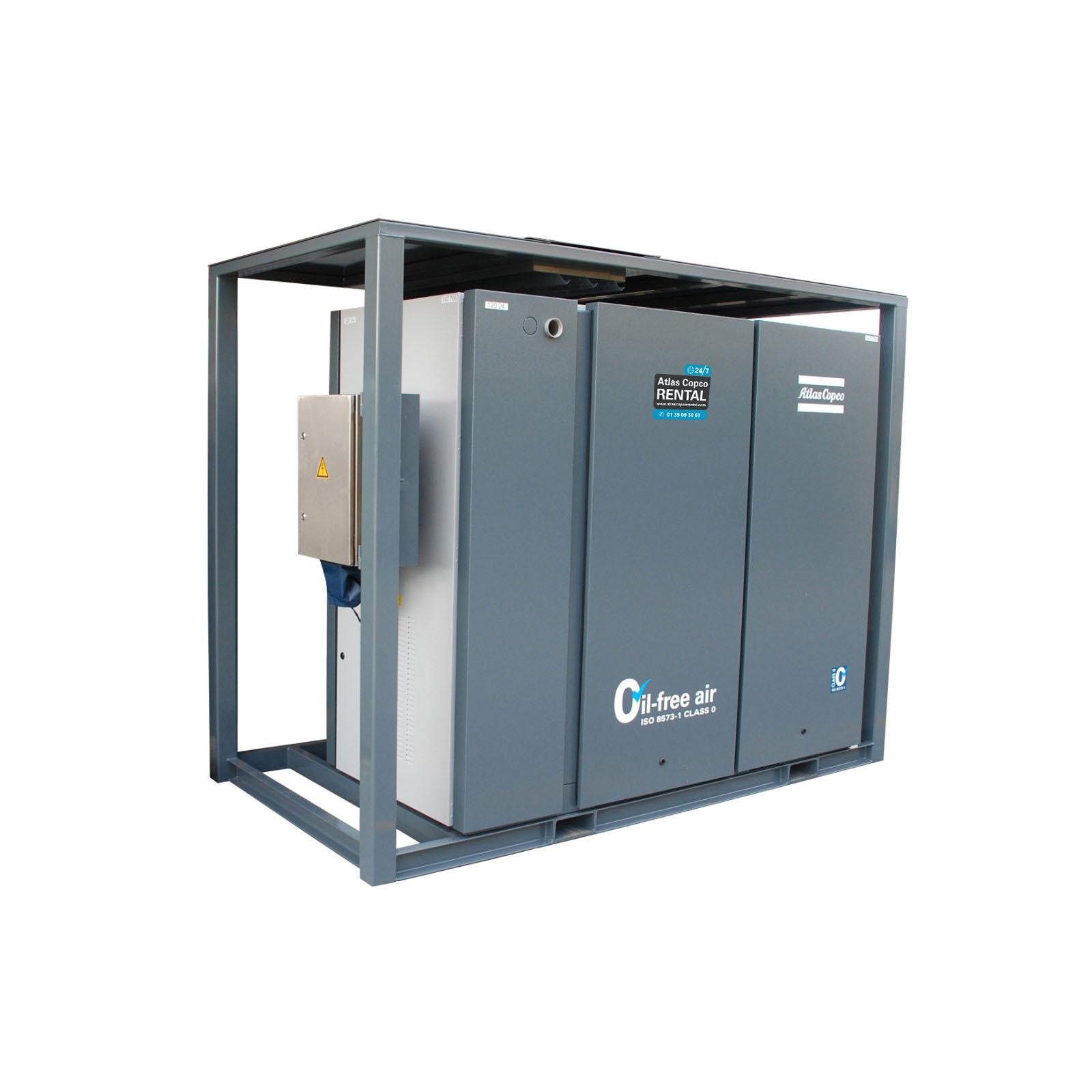 ATLAS COPCO - Location -  Surpresseurs électriques à vis  ZS 75+ VSD & ZS 160 VSD - 100 % exempt d'huile