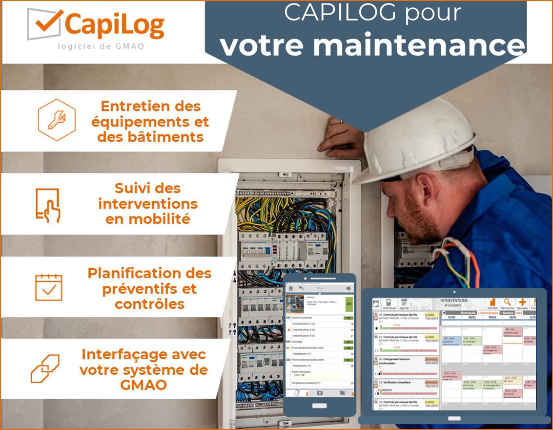 CAPITECHNIC - CapiLog logiciel de GMAO