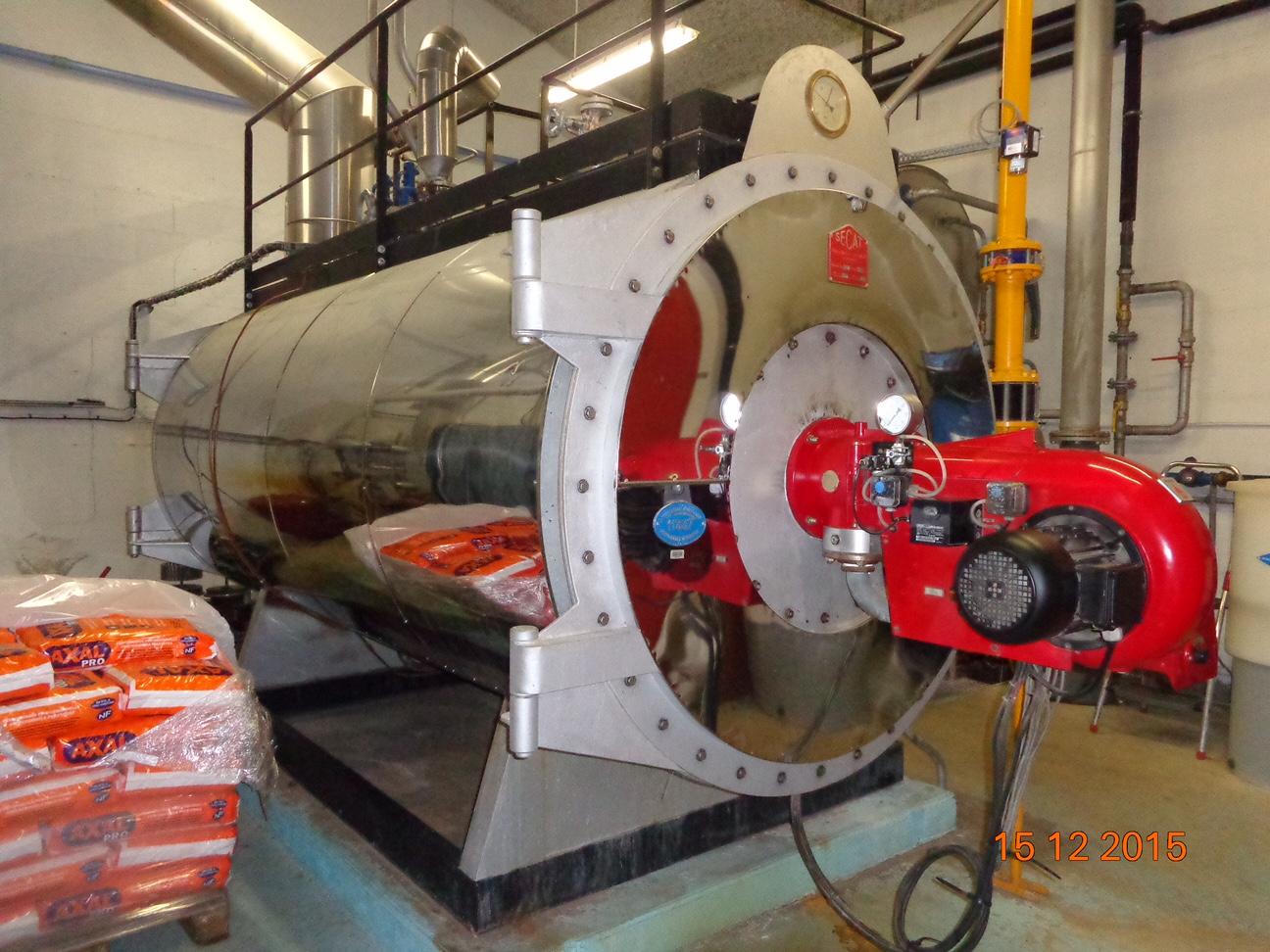 Chaudière vapeur d'occasion SECAT 2500 KgVp/h