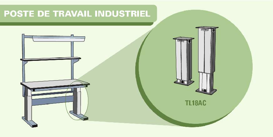 Colonne TL18AC : Quand le confort rencontre le secteur de l'industrie et du médical