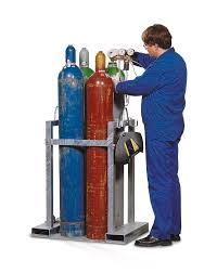 DENIOS - Support de transport de bouteilles de gaz