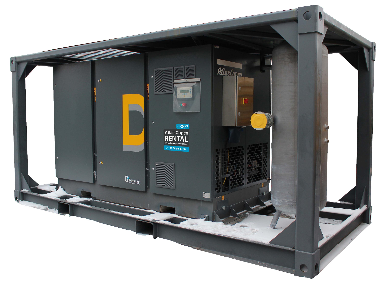 ATLAS COPCO - Location - Compresseur électrique à piston  DXT 85 VSD - 100% exempt d'huile