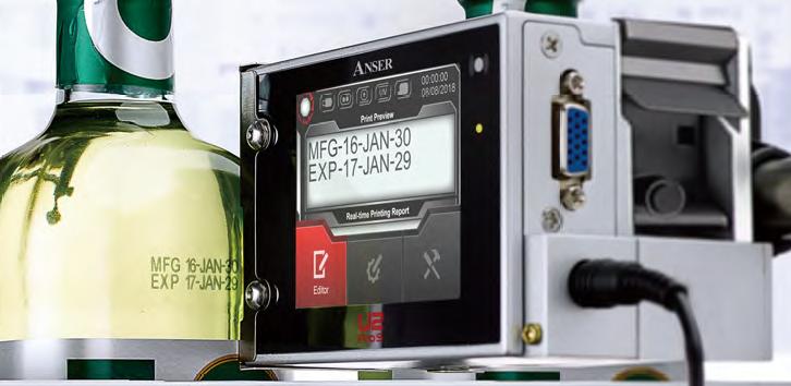 ROBELMARK - Anser U2 ProS Codeur jet d'encre thermique haute résolution.