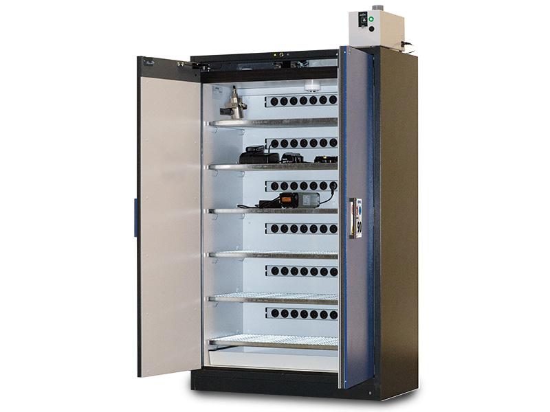DENIOS - Armoire coupe-feu SmartStore pour la charge de batteries Lithium-ion