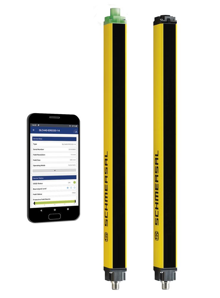 SCHMERSAL -  nouvelle barrière lumineuse de sécurité avec interface Bluetooth