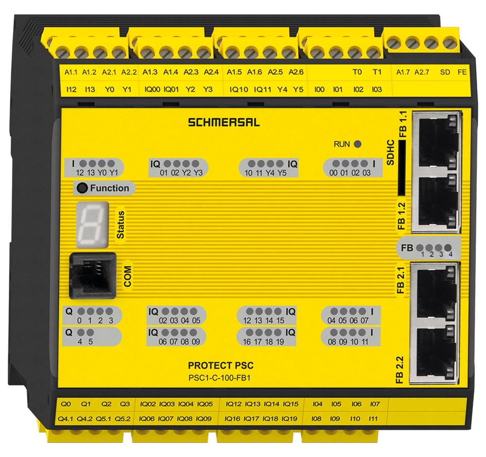SCHMERSAL Contrôleur de sécurité PROTECT PSC1 avec serveur OPC UA intégré