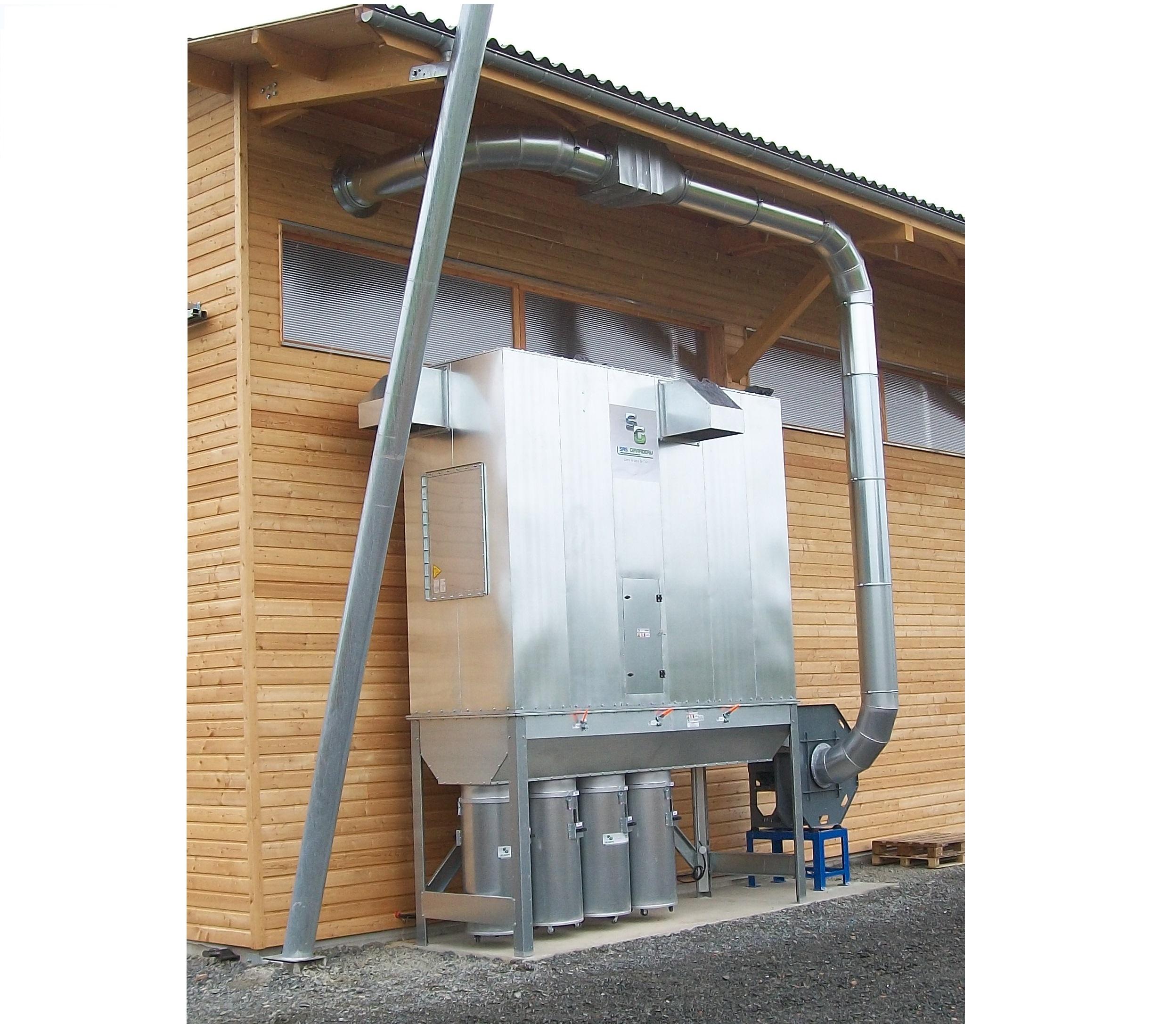 GIRARDEAU - Filtres ensacheurs fixes type FA avec moto-ventilateur incorporé