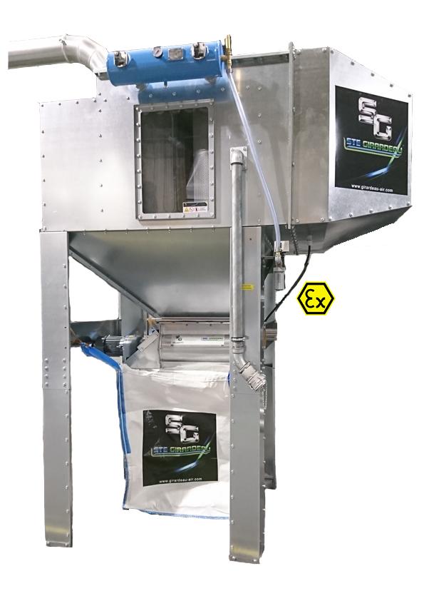 GIRARDEAU - Filtre tout intégré à écluse avec big-bag GIRTI DP ... BB