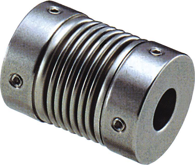 Accouplement à soufflet métallique serrage par vis HC