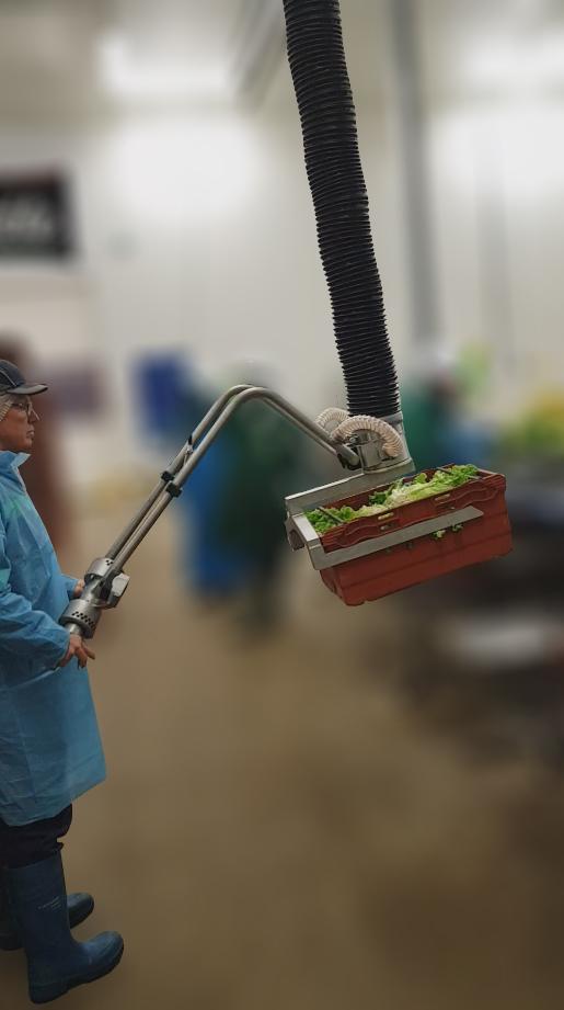 Manutention de bacs agroalimentaires